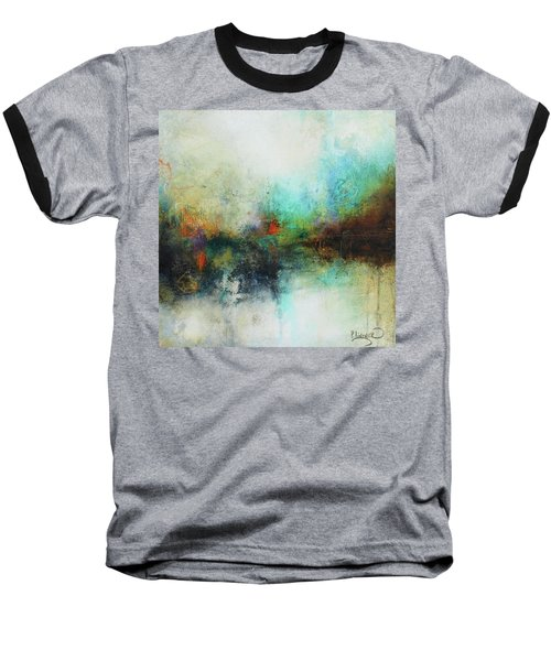Contemporary Abstract Art Painting Baseball T-Shirt by Patricia Lintner