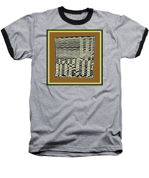 Baseball T-Shirt featuring the digital art Contemporary African Tribal Kuba Design  by Vagabond Folk Art - Virginia Vivier