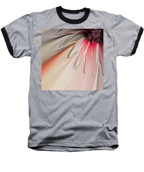 Baseball T-Shirt featuring the digital art Contemporary Flower by Bonnie Bruno