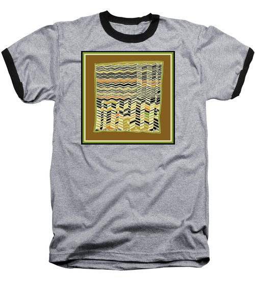 Baseball T-Shirt featuring the digital art Contemporary Kuba Cloth by Vagabond Folk Art - Virginia Vivier
