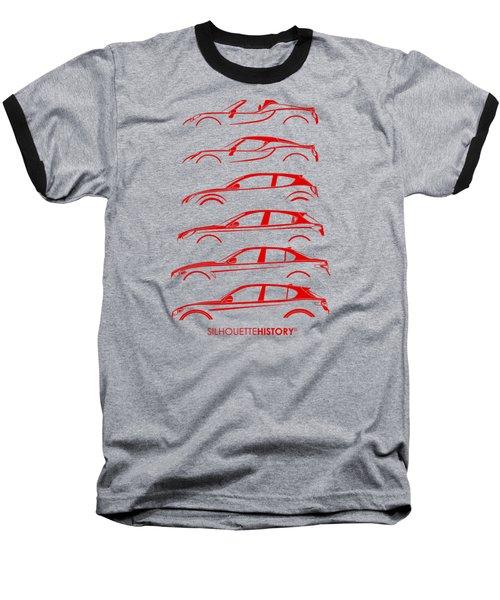 Contemporary Lombard  Silhouettehistory Baseball T-Shirt