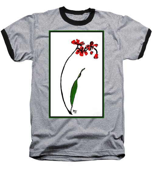 Baseball T-Shirt featuring the painting Contemporary Orchids by Marsha Heiken