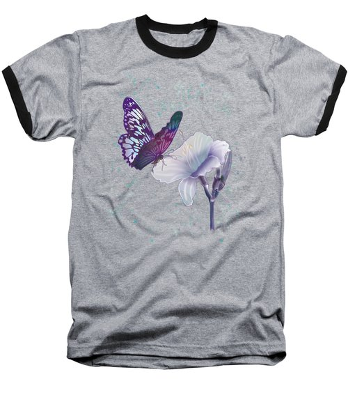 Contemporary Painting Of A Dancing Butterfly  Baseball T-Shirt