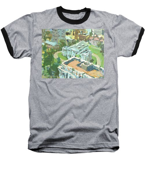 Contemporary Richmond Virginia Cityscape Painting Featuring Virginia State Capitol Building Baseball T-Shirt