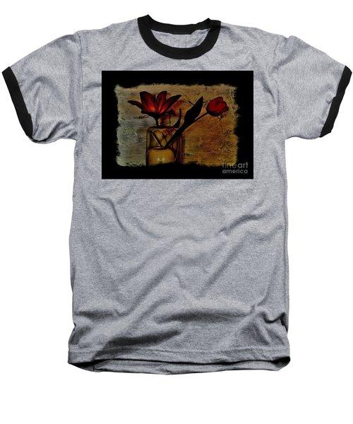 Contemporary Still Life Baseball T-Shirt by Marsha Heiken
