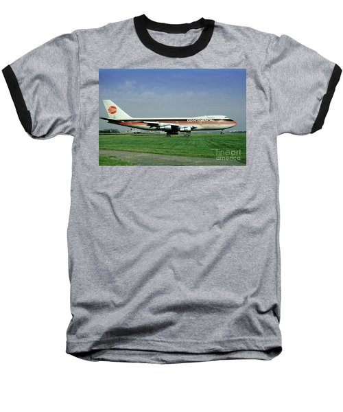 Continental Airlines Boeing 747-243b, N605pe, October 1988 Baseball T-Shirt
