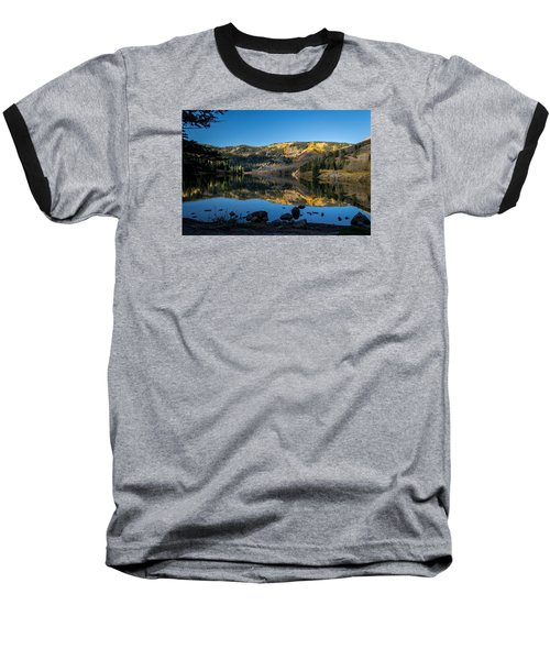 Contract Lake Fall Morning Baseball T-Shirt by Michael J Bauer