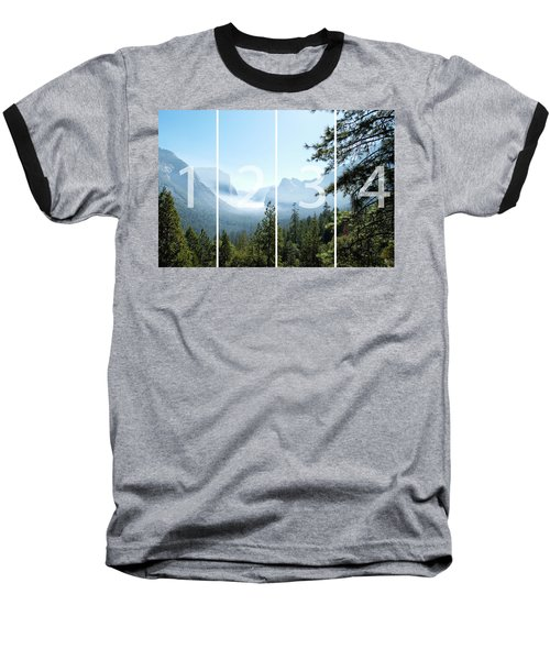 Controlled Burn Of Yosemite Panoramic Map Baseball T-Shirt