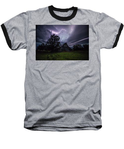Baseball T-Shirt featuring the photograph Convergence  by Aaron J Groen