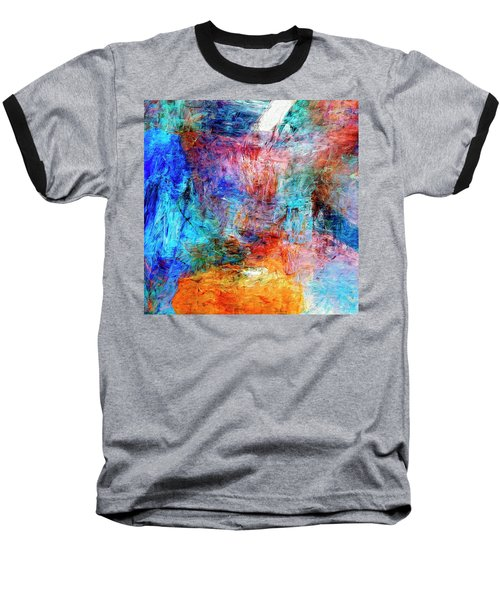Baseball T-Shirt featuring the painting Convergence by Dominic Piperata