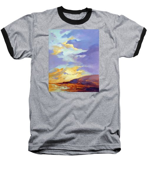 Baseball T-Shirt featuring the painting Convergence by Rae Andrews