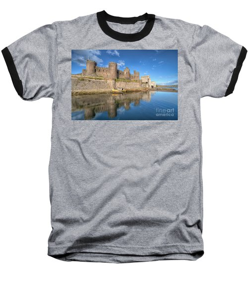 Conwy Castle Baseball T-Shirt by Adrian Evans