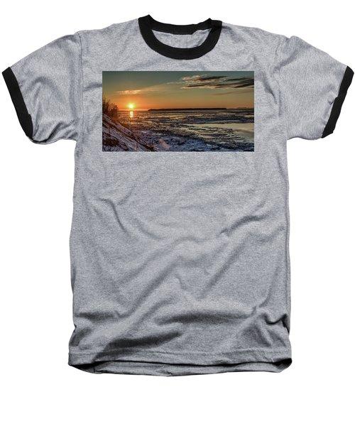Cook Inlet Sunset Alaska  Baseball T-Shirt