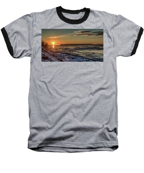 Baseball T-Shirt featuring the photograph Cook Inlet Sunset Alaska  by Michael Rogers