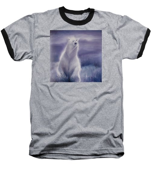 Cool Bear Baseball T-Shirt by Allison Ashton