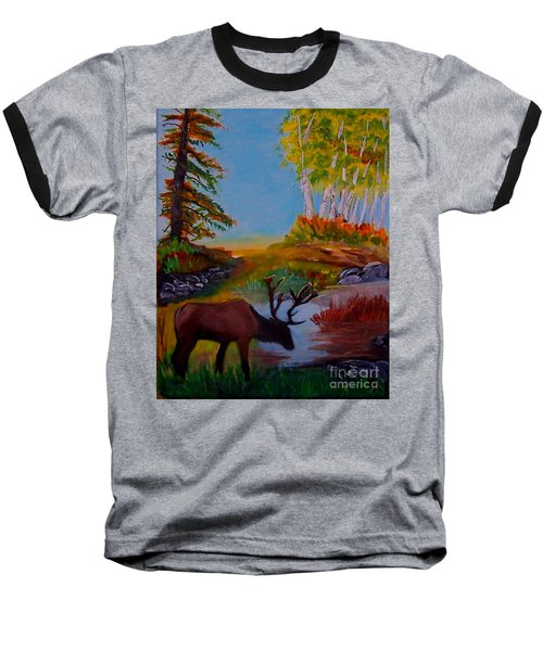 Baseball T-Shirt featuring the painting Cool Drink by Leslie Allen