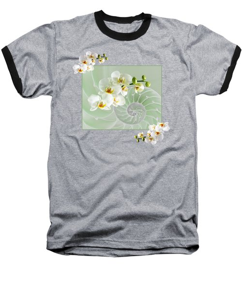 Cool Green Fusion Baseball T-Shirt by Gill Billington