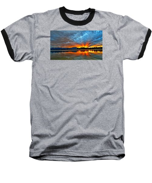 Cool Nightfall Baseball T-Shirt by Eric Dee