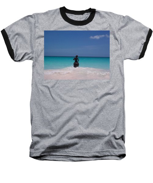 Baseball T-Shirt featuring the photograph Cool Off Man by Mary-Lee Sanders
