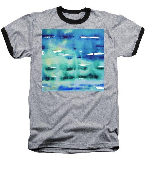 Cool Watercolor Baseball T-Shirt