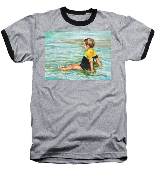 Baseball T-Shirt featuring the painting Cooling Off by Val Stokes