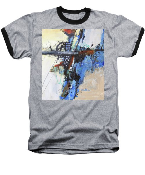Baseball T-Shirt featuring the painting Coolly Collected by Ron Stephens