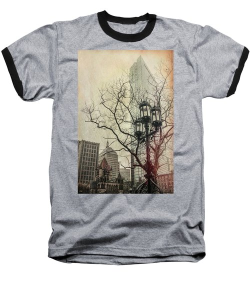 Baseball T-Shirt featuring the photograph Copley Square - Boston by Joann Vitali
