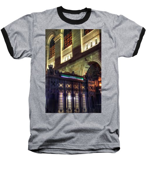 Baseball T-Shirt featuring the photograph Copley Square T Stop - Boston by Joann Vitali