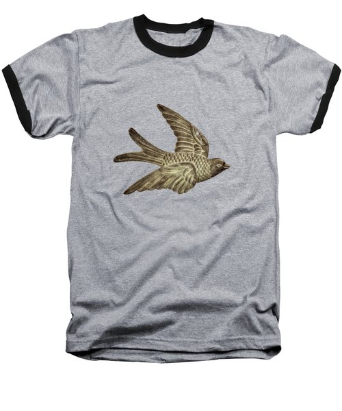 Copper Bird Baseball T-Shirt