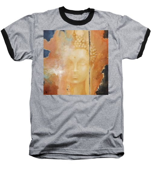 Baseball T-Shirt featuring the painting Copper Buddha by Dina Dargo