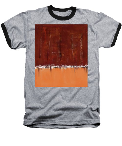 Copper Field Abstract Painting Baseball T-Shirt