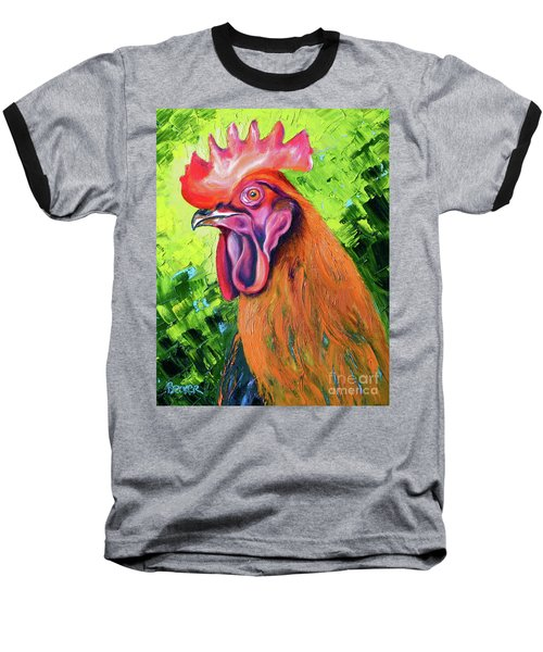 Copper Maran French Rooster Baseball T-Shirt