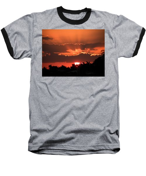 Copper Sunset Baseball T-Shirt