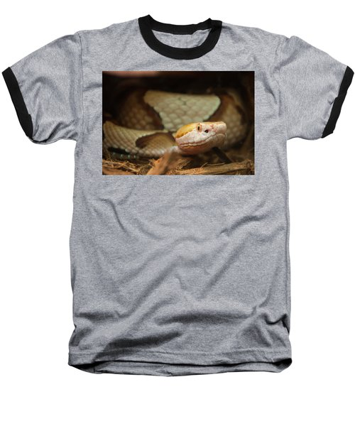 Baseball T-Shirt featuring the digital art Copperhead by Chris Flees