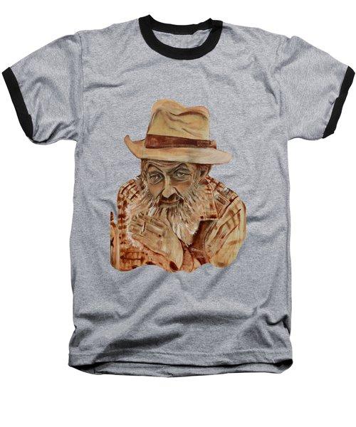 Coppershine Popcorn Bust - T-shirt Transparency Baseball T-Shirt by Jan Dappen