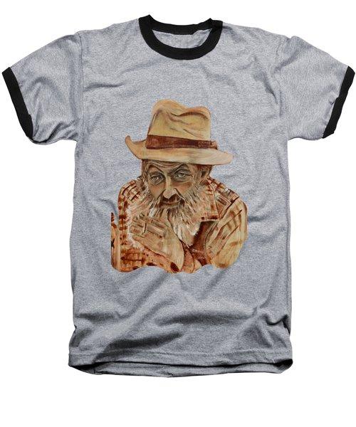 Coppershine Popcorn Bust - T-shirt Transparency Baseball T-Shirt