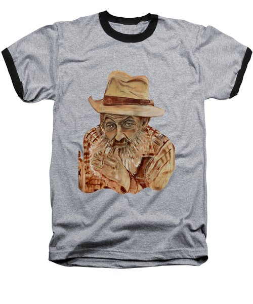 Coppershine Popcorn Bust - T-shirt Transparency Baseball T-Shirt