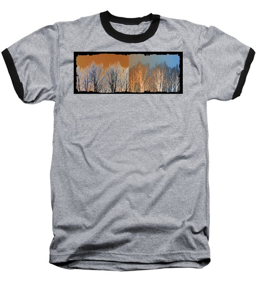Baseball T-Shirt featuring the digital art Coppertone Fusion by Will Borden
