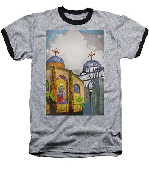Coptic Church Rebirth Baseball T-Shirt by Joseph Hollingsworth
