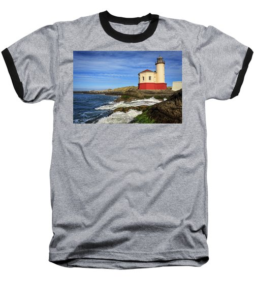 Coquille River Lighthouse At Bandon Baseball T-Shirt