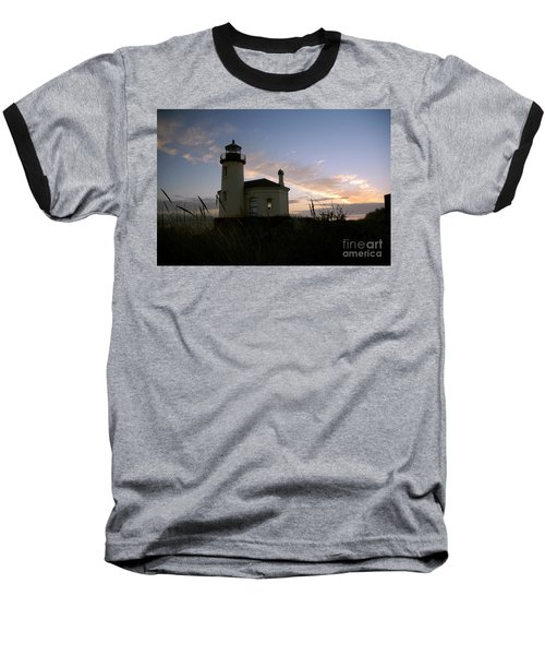 Coquille River Lighthouse At Sunset Baseball T-Shirt