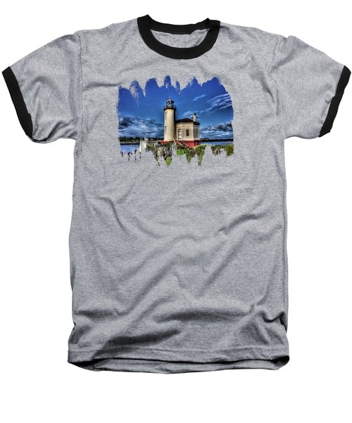Coquille River Lighthouse Baseball T-Shirt by Thom Zehrfeld