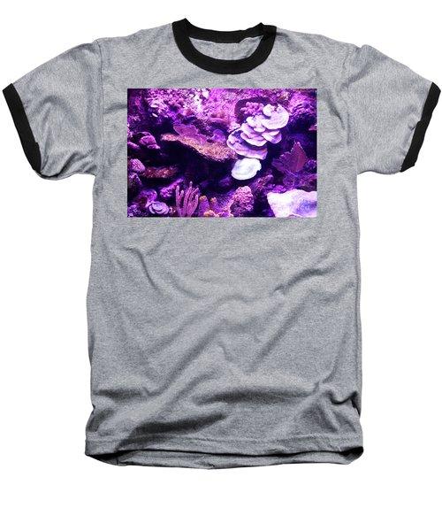 Baseball T-Shirt featuring the digital art Coral Art 5 by Francesca Mackenney