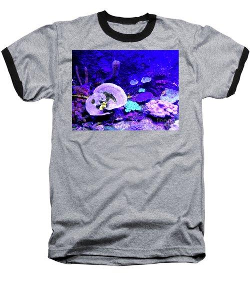 Baseball T-Shirt featuring the digital art Coral Art by Francesca Mackenney