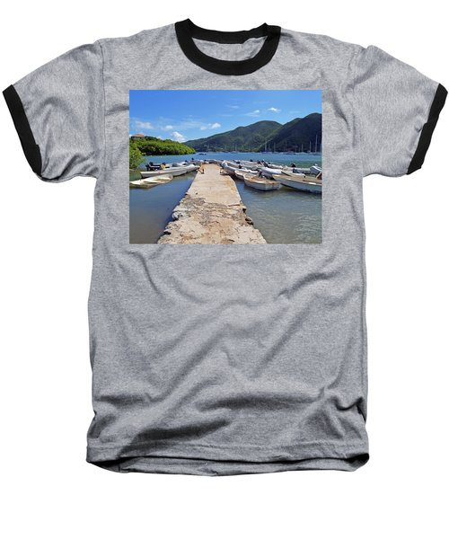 Coral Bay Dinghy Dock Baseball T-Shirt