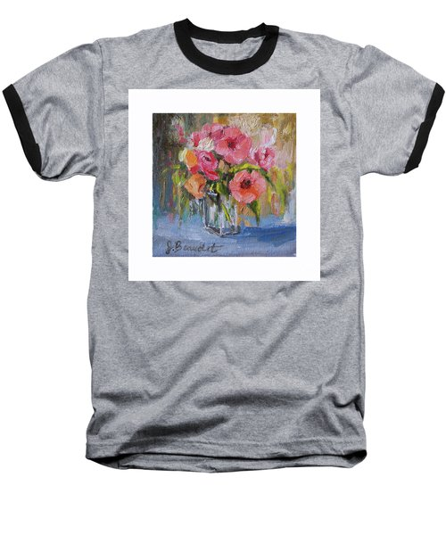 Coral Bouquet Baseball T-Shirt by Jennifer Beaudet