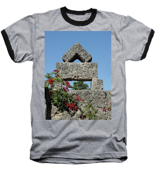 Coral Castle For Love Baseball T-Shirt by Shirley Heyn