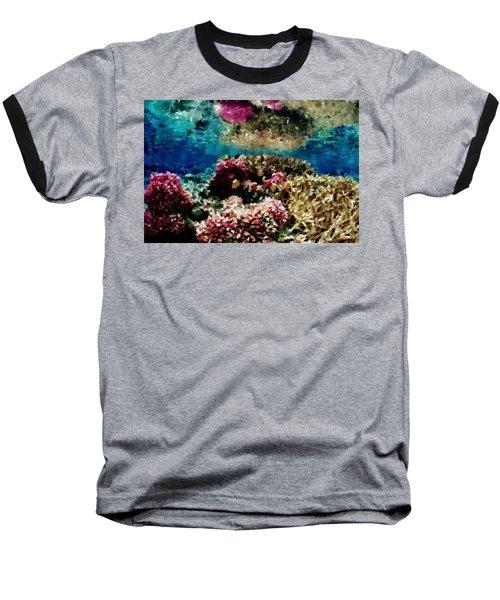 Coral Reef Baseball T-Shirt by Carol Crisafi