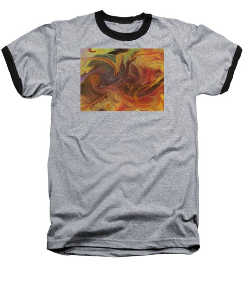 Coral Sea Baseball T-Shirt by David Klaboe