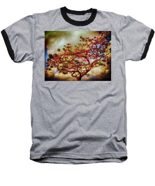 Coral Tree Baseball T-Shirt